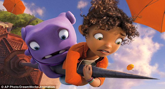 Due out March 27! The Battleship starlet voices the first African-American lead in a 3D animated flick for DreamWorks' Home alongside Jennifer Lopez, Steve Martin, and Jim Parsons