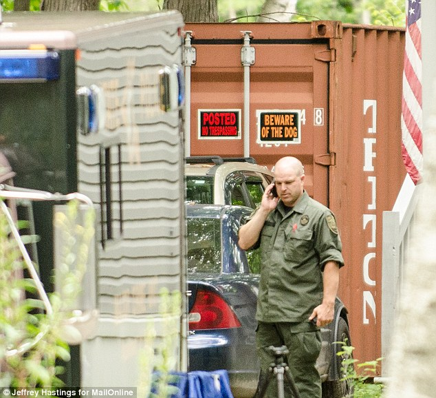 Investigation: Police searched Kibby's home but have revealed little about what led them to Kibby, but questions now surround a shipping container on the man's Gorham, New Hampshire property, located 30 miles north of where Abigail reappeared last week