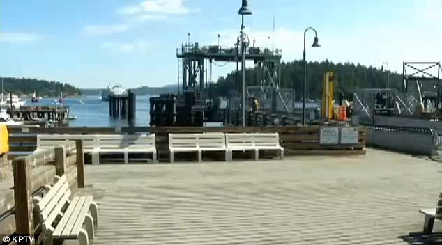 Sighting? A couple believe they saw Jennifer Huston, 38, boarding a car ferry here in Anacortes, Washington, on the morning of Thursday July 31, one week after she went missing in Oregon