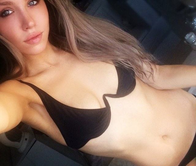 Model Poser Imogen Showed Off Her Enviable Credentials In Black Lingerie On Monday In A