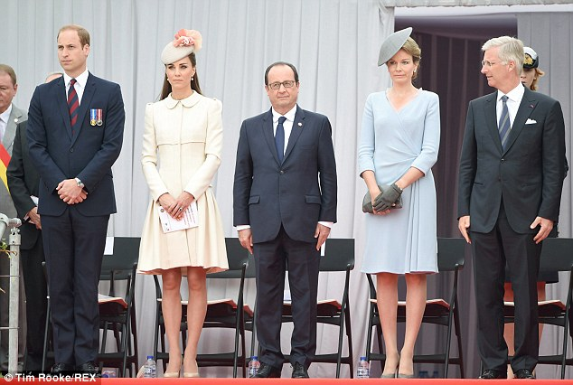 The Duke and Duchess of Cambridge, French President Hollande, and The King and Queen of The Belgians.