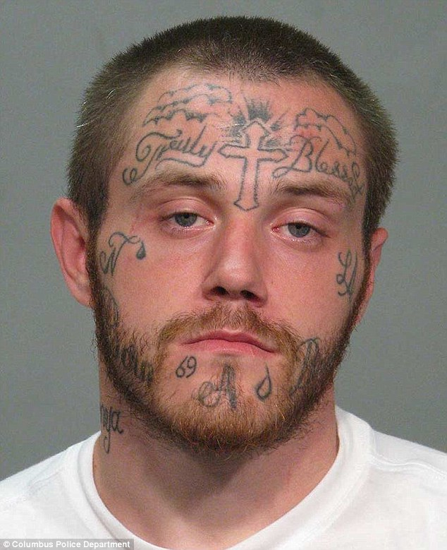 Ohio man 23 arrested over bank robbery has Truly Blessed tattooed across his forehead