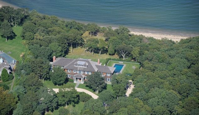Home for the summer: The Clintons are renting a house belonging to Andre and Lois Nasser in Amagansett, NY