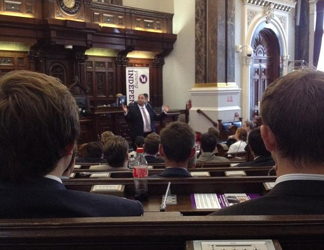 Further controversy: Bill Etheridge MEP told youth members to copy Adolf Hitler's 'magnetic' rhetoric