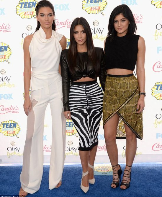 Ruling the red carpet: All eyes were on the Keeping Up With The Kardashians stars