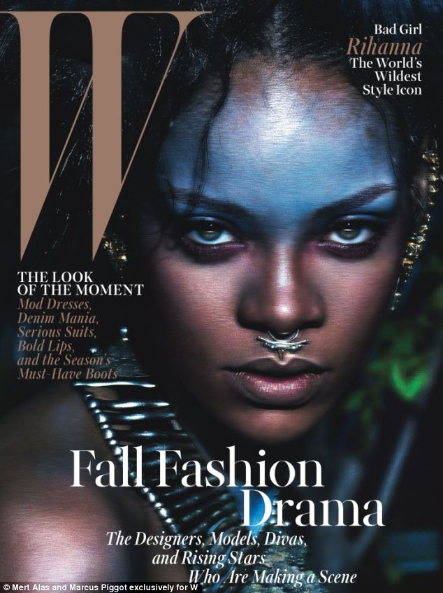 Cover girl! Rihanna is also on the cover of the issue