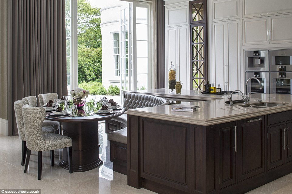 kitchen table island combo outdoor diy surrey mansion with eight bedroom 'suites' and private ...