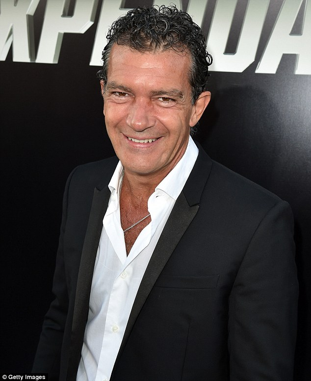 Action star: Antonio Banderas joined his co-stars at the premiere