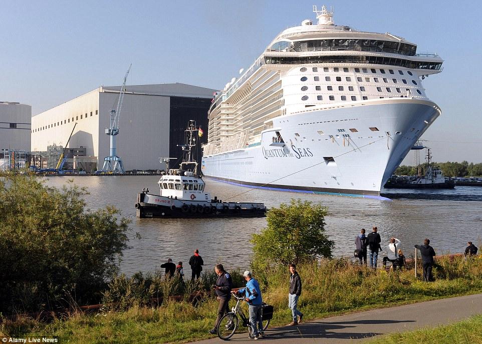 Quantum of the Seas, um navio enorme 4.180 passageiros, é o primeiro de uma nova classe de navios da Royal Caribbean International