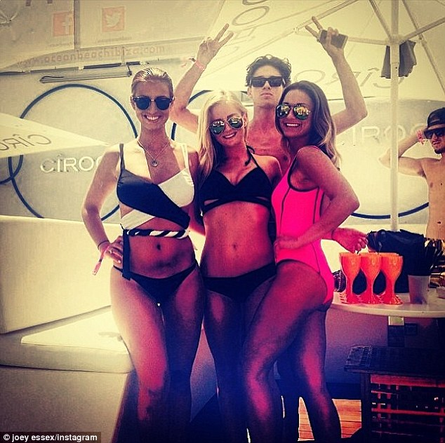 Bikini babes: He also posted this snap of his fave girls on holiday