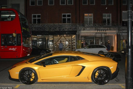 Daniel Hallworth, director of Dan Car Logistics, which specialises in air freight, told MailOnline: 'The Arabs often use agents to arrange their cars to be flown to the UK - and some of these guys can have two or three cars that they bring over for just one month.' Above, a Lamborghini seen last night in south-west London