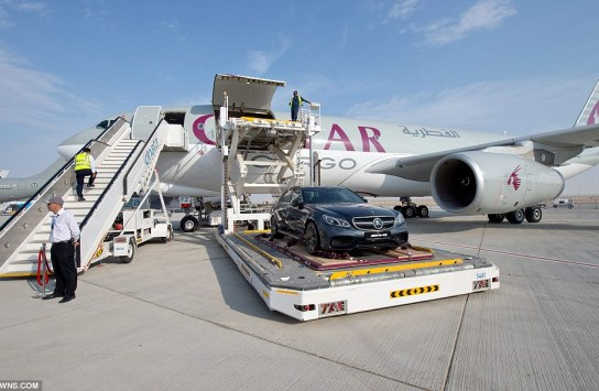 Qatar Airways provided a demonstration using the latest from the Mercedes-Benz AMG product line of luxury automobiles