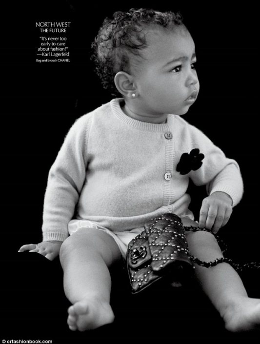 Never too early: North West makes her modelling debut clad in Chanel in the Fall issue of CR Fashion Book