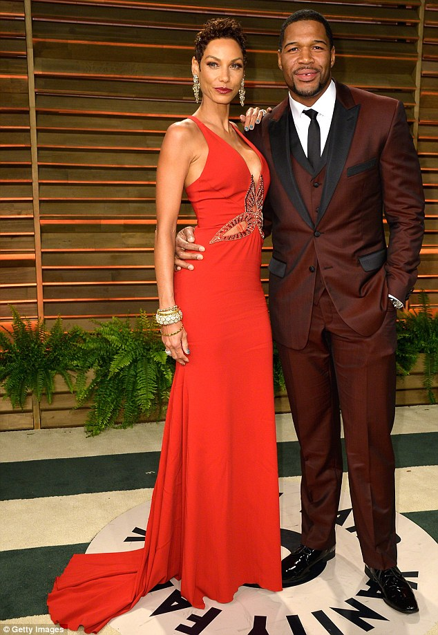 Red hot: The couple were engaged for five years and have nine children between them from previous relationships