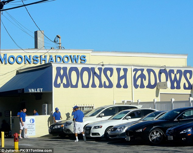 Popular: Moonshadows restaurant overlooks the Pacific Ocean in Malibu