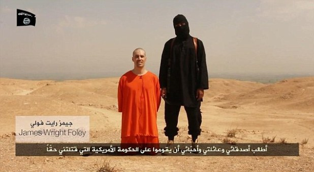 Terror: Photojournalist James Wright Foley spoke before his beheading to say ''I call on my friends, family members and loved ones to rise up against my real killers, the U.S. government.'