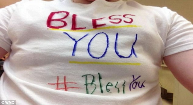 Statement: Dyer County students have shown their support for Turner with handmade t-shirts