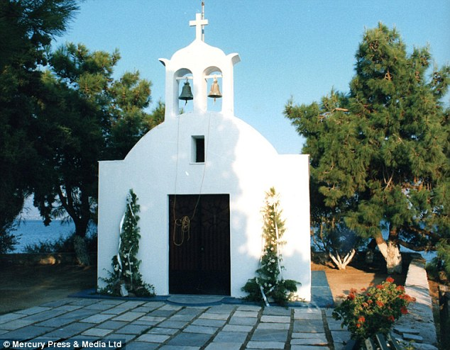 Living on a prayer: The island even comes with its very own church. Surrounding shrubs and flowers add character to the spectacular location