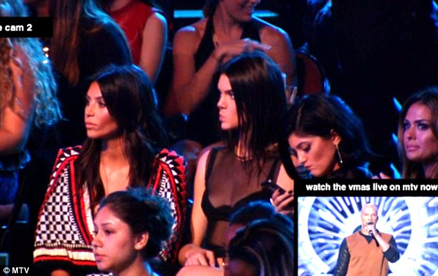 Rapper Common spoke about Brown's death as the Kardashian sisters checked their phones and looked bored during the MVAs