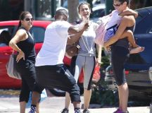 Jamie Foxx dotes on youngest daughter Annalise during ...