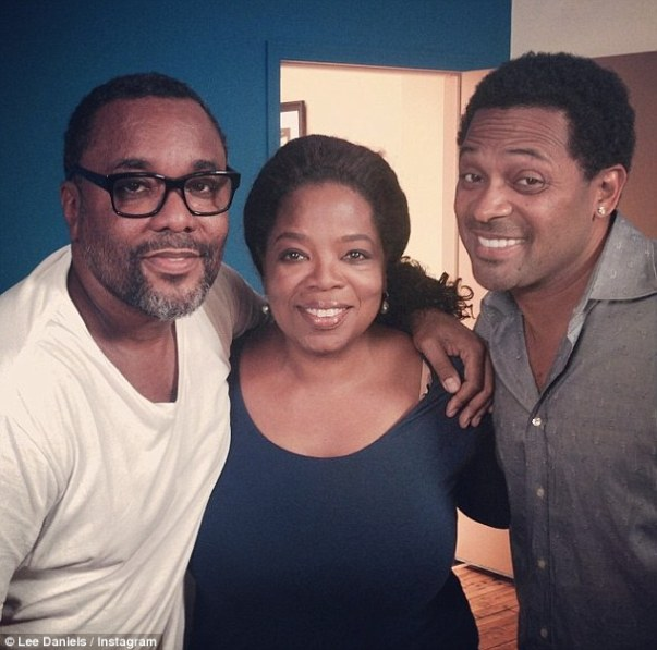 'And we're off': The film's director Lee Daniels announced that Mike Epps, right, was taking over the Richard Pryor role via this cosy Instagram alongside Oprah Winfrey who will play Pryor's grandmother