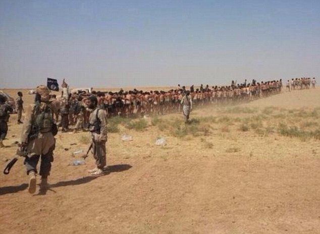 ISIS Fighters Marching More Than 200 Soldiers Across The Desert To Their Deaths