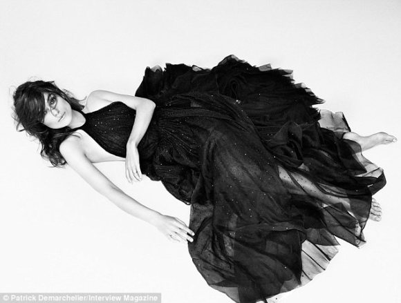 Princess dress: When she wasn't half-naked, Keira was clad in black evening gowns