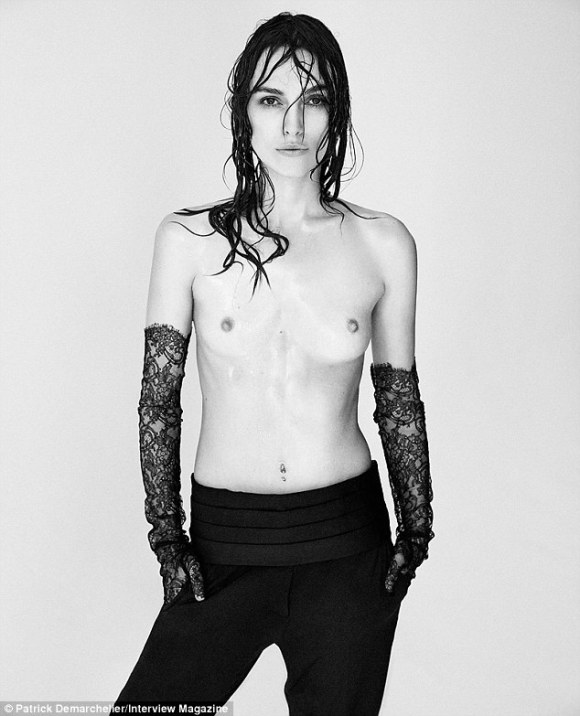Keira bares all: Ms. Knightley goes topless for the September issue of Interview magazine