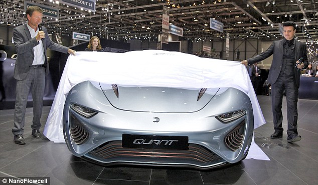 After making its debut at the 2014 Geneva Motor Show (pictured) in March, the saltwater technology has now been certified for use on European roads.The car carries the water in two 200-litre tanks, which in one sitting will allow drivers to travel up to 373 miles (600km)