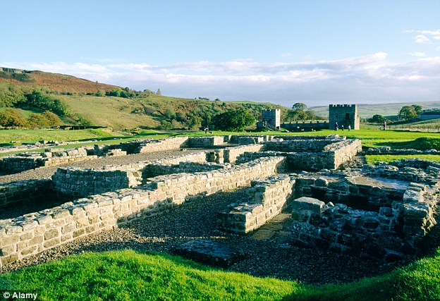 Hadrian's Wall, pictured, is also on the family's itinerary in the year-long tour