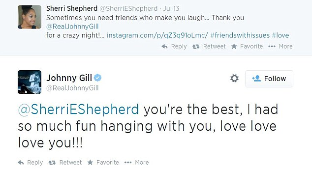 Love notes: Gill flew Sherri to Houston to see him perform and couldn't help but tweet about their great night