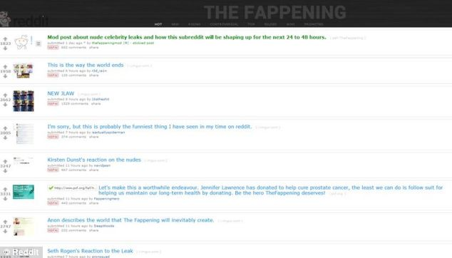 Image result for the fappening reddit screenshot