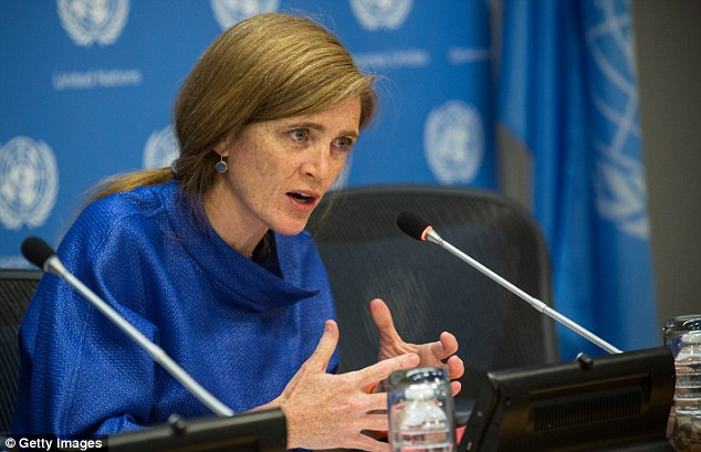 Ambassador: Samantha Power, U.S. ambassador the the United Nations, said the U.S. is concerned not only that President Bashar Assad's regime still has chemical weapons, but that any  left behind could end up in the hands of ISIS