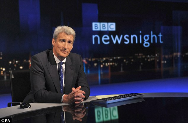 Row: Jeremy Paxman, who recently left Newsnight, said there should be a Dignitas 'on every street corner'