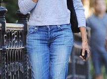 Sarah Jessica Parker dons black leather booties as she ...