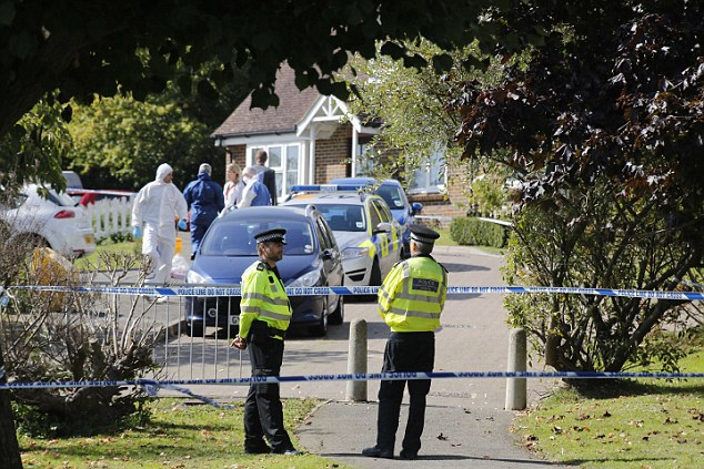 Scene of the attack: Residents who heard the shots said they thought someone was shooting pheasants