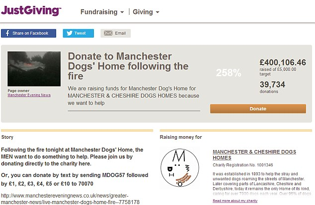 Support: justgiving - charity hit by arson attack in which 53 dogs died | ozara gossip