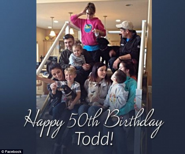 Happy birthday: The Palin family was at the birthday party of a family friend, and celebrating the birthday of patriarch Todd, when they started a fight with one of Willow's ex-boyfriends, Connor Cleary