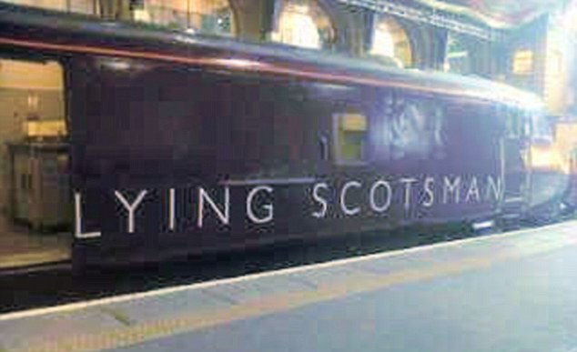 Tracking down the truth: Does this image of a cross-country train make you think of any politician in particular?