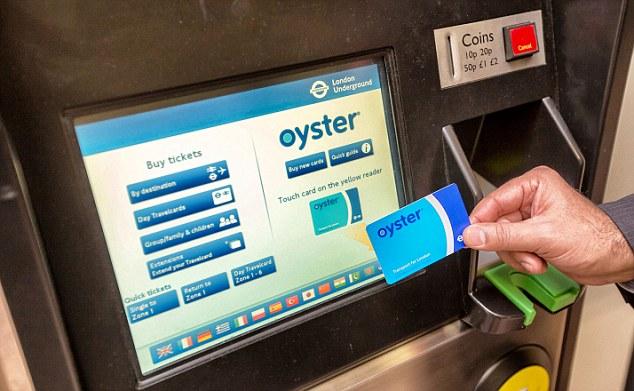 Resultado de imagen de oyster card machine
