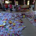 Hannah found her living room covered in birthday cards and presents on
