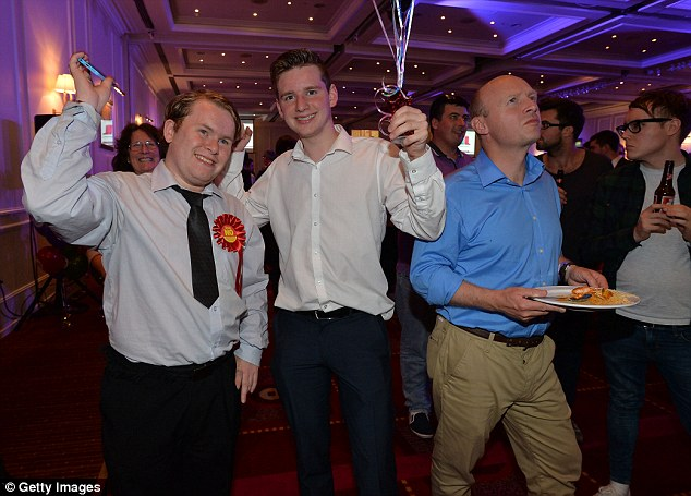 More Better Together campaigners celebrate the Clackmannanshire  result in Glasgow