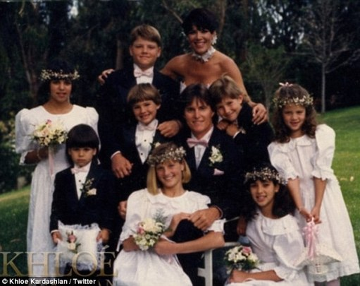 The way we were: The Keeping Up with the Kardashians couple tied the knot in 1991, blending their families of four girls and four boys (at the time) from previous marriages