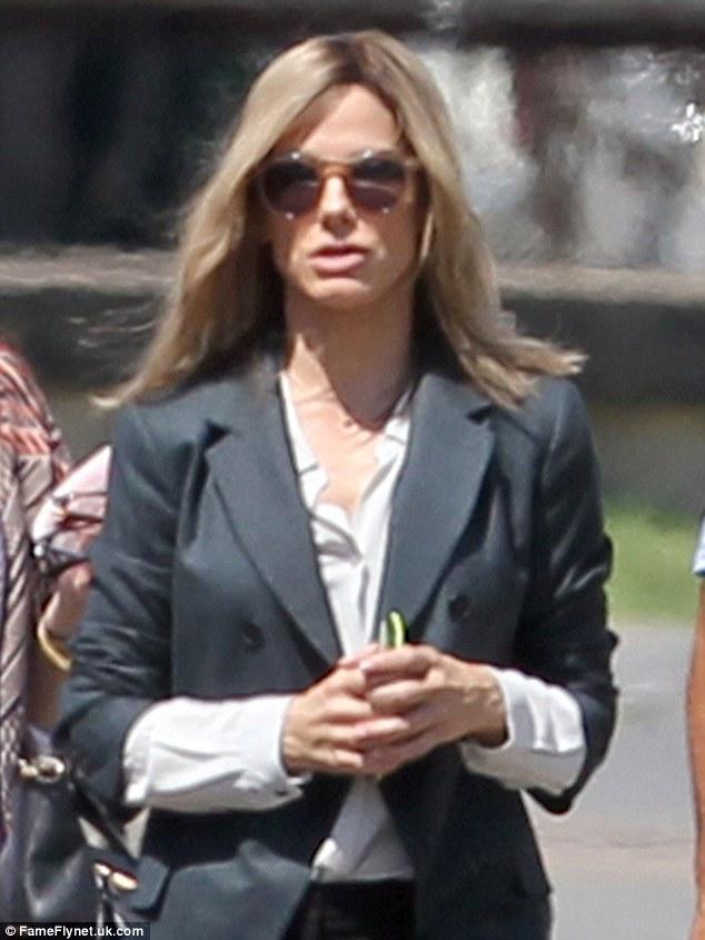 Sandra Bullock Debuts Blonde Hair On New Orleans Set Of