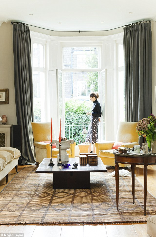 yellow grey living room curtains ideas for large blank wall lifestyle: mad about the trad   daily mail online