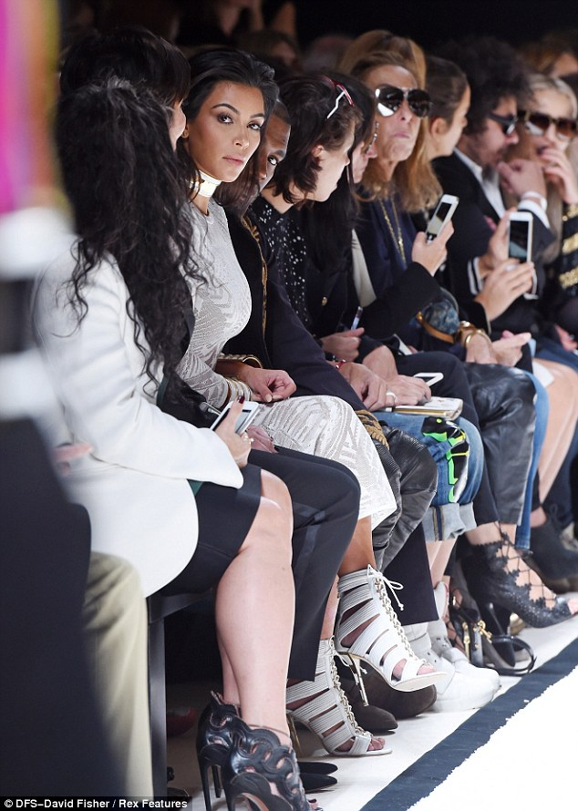 Front row crew: Kim, Kanye and Kris had the perfect spot to see the new collections
