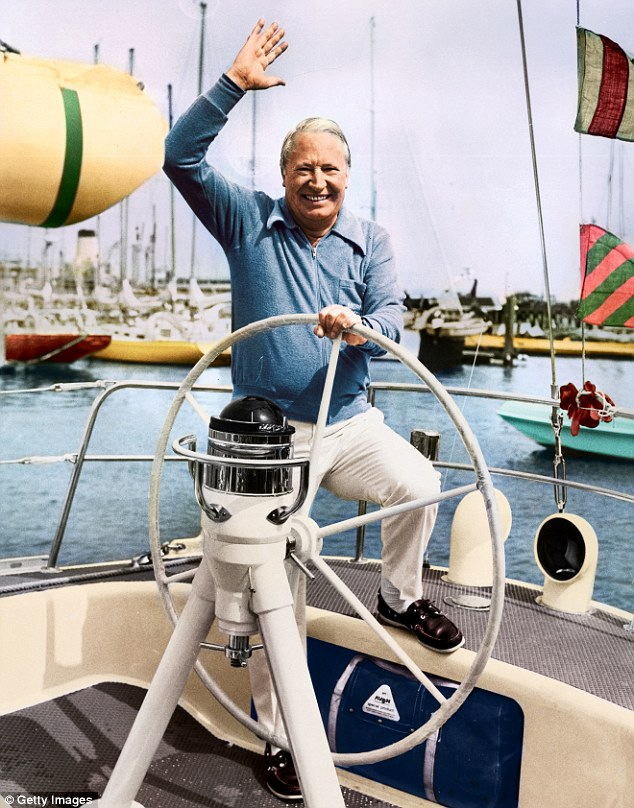 'Sailor Ted': On his yacht in 1975, a year after he left Downing Street and his role as Prime Minister