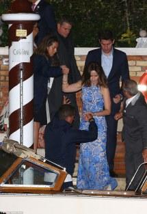 Emily Blunt George Clooney Wedding