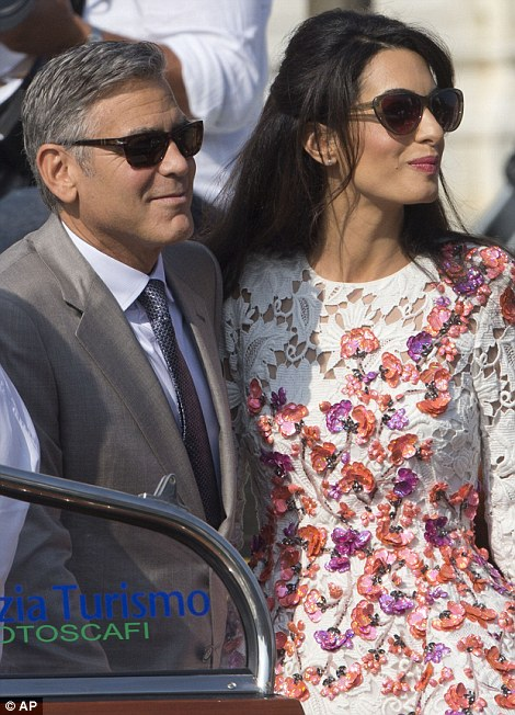 His leading lady! 'I would just like to say to my bride-to-be Amal that I love you very much and I can't wait to be your husband,' George gushed to Amal earlier in the month
