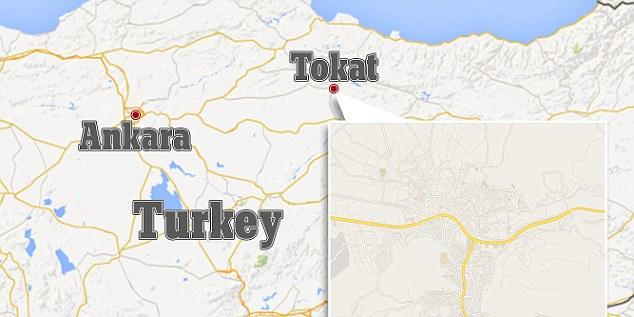 Descoperirea a fost făcută în timpul lucrărilor de restaurare pe site-ul, situat în orașul nordic turc de Tokat (foto).  Spre sfârșitul secolului al 12-lea, orasul a fost cucerit de turci selgiucizi și a devenit parte a Imperiului Otoman în 1392